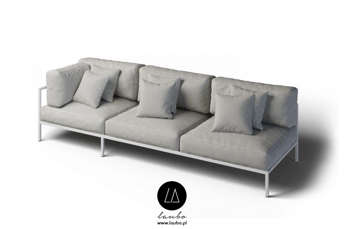 Zewnętrzna sofa narożna 3-osobowa lewa Cosi