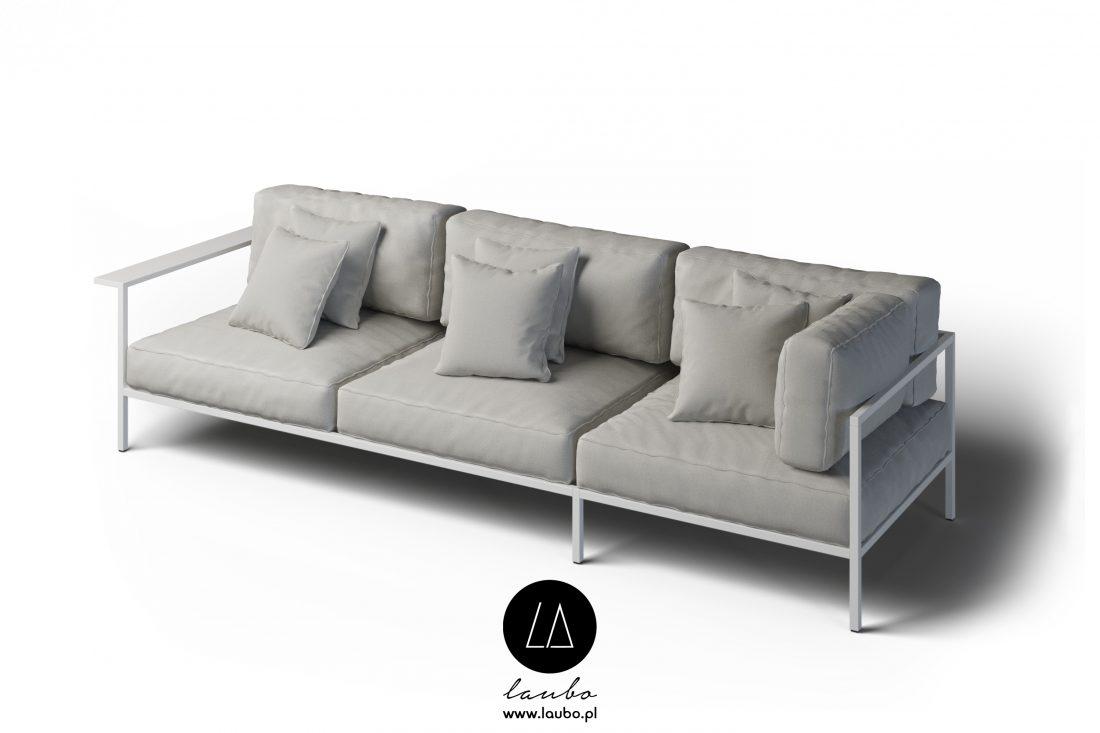 Zewnętrzna sofa narożna 3-osobowa prawa z podłokietnikiem Cosi