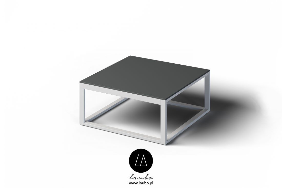 Zewnętrzny nowoczesny stolik kawowy Formal kwadratowy